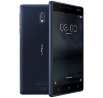 Nokia 3 Blue with Laptop