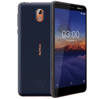 Nokia 3.1 Blue with Television