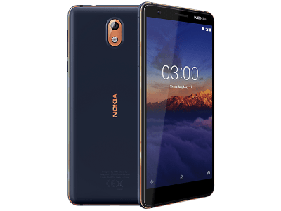 Nokia 3.1 Blue with Amazon Kindle Paperwhite