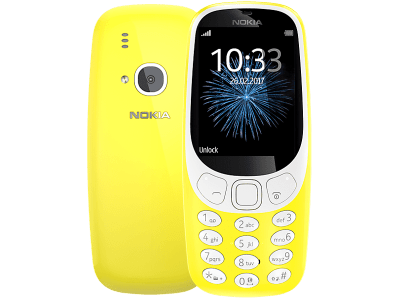 Nokia 3310 (2017) Yellow SIM Free Deals