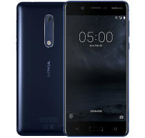 Nokia 5 Blue with Laptop