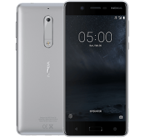 Nokia 5 Silver with Laptop