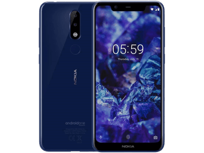 Nokia 5.1 Plus Blue on EE