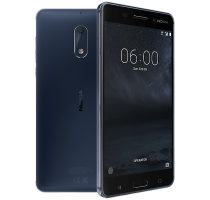 Nokia 6 Blue with Wearable Teachnology