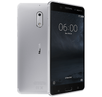 Nokia 6 Silver with Wearable Teachnology