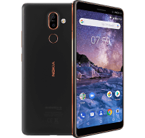 Nokia 7 Plus with Laptop