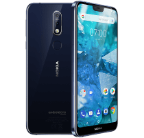 Nokia 7.1 Blue with Samsung Galaxy Tab E 9.6