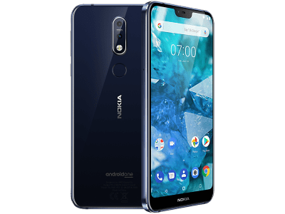 Nokia 7.1 Blue with Headphone and Speakers