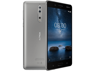 Nokia 8 Silver with Cashback by Redemption