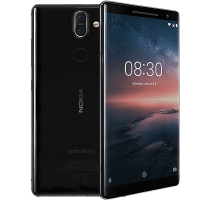 Nokia 8 Sirocco with Archos Laptop