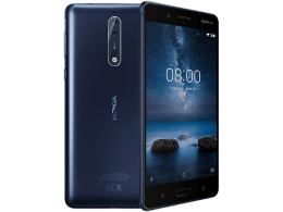 Nokia 8 with Laptop