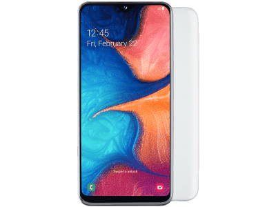 Samsung Galaxy A20e White on 18 Months Contract