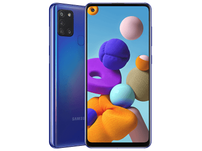 Samsung Galaxy A21s Blue on O2