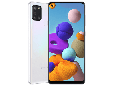 Samsung Galaxy A21s White on 12 Months Contract