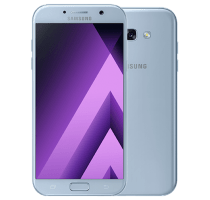 Samsung Galaxy A3 2017 Blue Mist with Laptop