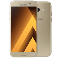 Samsung Galaxy A3 2017 Gold Sand with Laptop