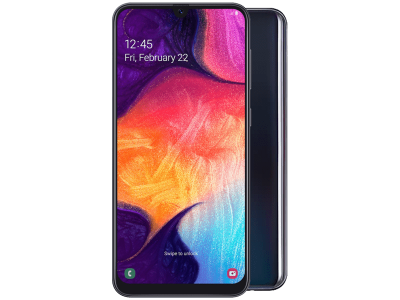 Samsung Galaxy A50 with iPad and Tablet
