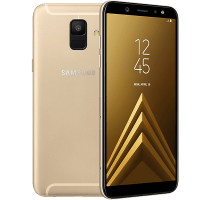 Samsung Galaxy A6 Gold with Television