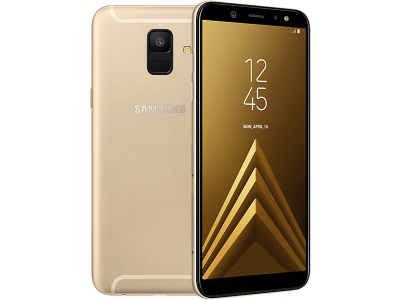 Samsung Galaxy A6 Gold on Three