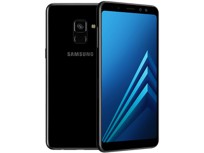 Samsung Galaxy A8 with Laptop
