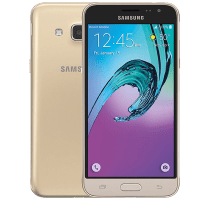 Samsung Galaxy J3 Gold with Laptop