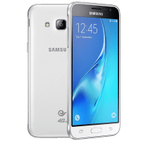Samsung Galaxy J3 white with Dell Chromebook