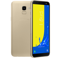 Samsung Galaxy J6 Gold with Television
