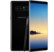 Samsung Galaxy Note 8 with Acer Laptop