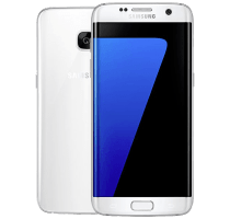 Samsung Galaxy S7 Edge White with Dell Chromebook