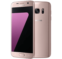 Samsung Galaxy S7 Pink Gold with Laptop