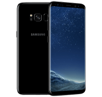 Samsung Galaxy S8 with Laptop