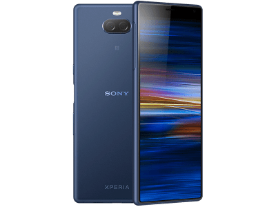 Sony Xperia 10 Blue with iPad and Tablet