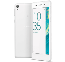 Sony Xperia E5 White with GHD Hair Straighteners