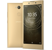 Sony Xperia L2 Gold with Laptop