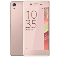 Sony Xperia X Rose Gold with GHD Hair Straighteners