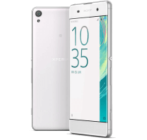 Sony Xperia X White with GHD Hair Straighteners