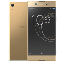 Sony Xperia XA1 Ultra Gold with Laptop
