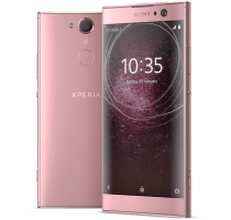 Sony Xperia XA2 Pink with Laptop