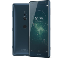 Sony Xperia XZ2 Blue with Samsung Galaxy Tab A 9.7