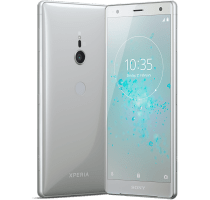 Sony Xperia XZ2 Silver with Acer Laptop