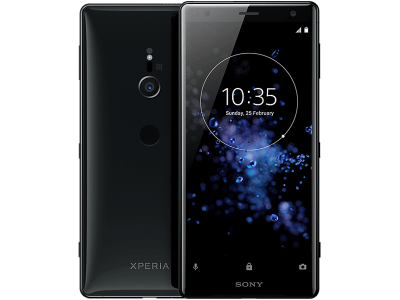 Sony Xperia XZ2 with Laptop