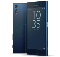 Sony Xperia XZ Blue with Dell Chromebook