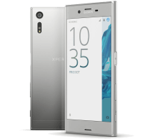 Sony Xperia XZ Platinum with GHD Hair Straighteners