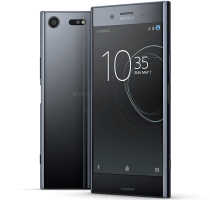 Sony Xperia XZ Premium with Laptop