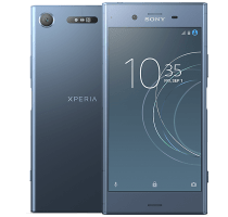 Sony Xperia XZ1 Blue with iPad and Tablet