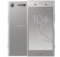 Sony Xperia XZ1 Silver with iPad and Tablet