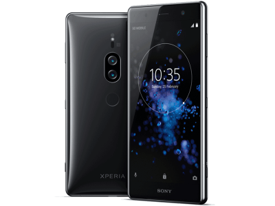 Sony Xperia XZ2 Premium with Laptop