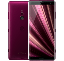 Sony Xperia XZ3 Red with Laptop