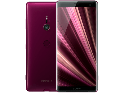 Sony Xperia XZ3 Red with Samsung Galaxy Tab A 9.7
