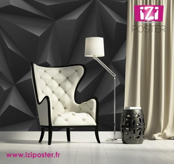 cr er du relief avec un poster mural. Black Bedroom Furniture Sets. Home Design Ideas